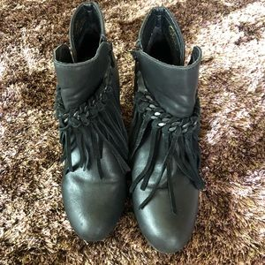 SBICCA Vintage Collection bootie black leather 6.5